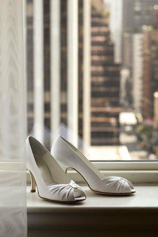 brides-white-peep-toe-heels