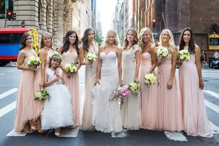 model-bride-with-bridesmaids-and-flower-girl
