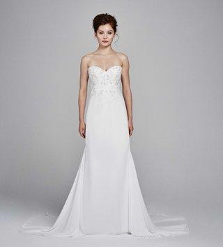 kelly-faetanini-fall-winter-2017-wedding-dress-sage-strapless-sweetheart-neckline-lace-train