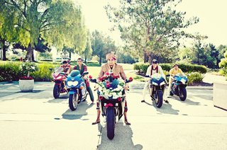 indian-groom-with-groomsmen-on-motorcycles