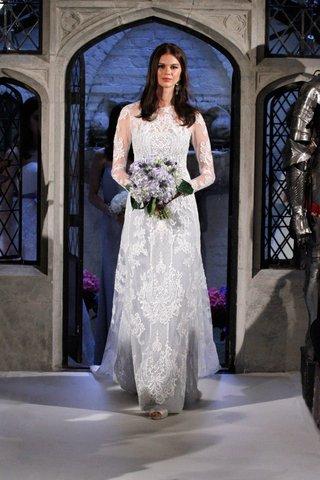 oleg-cassini-spring-2018-wedding-dress-light-blue-under-dress-with-lace-overlay-long-sleeves