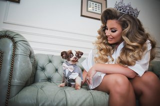 ashley-alexiss-bride-big-hair-and-tiara-wedding-ring-bearer-grey-suit-and-pink-tie-todd