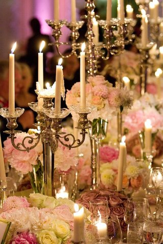 candlesticks-on-candelabrum-and-pink-peonies