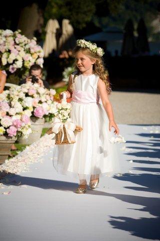 tea-length-dress-and-basket-of-flowers