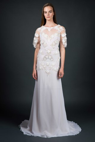 sarah-janks-fall-2016-sheath-wedding-dress-with-flower-applique-and-half-sleeves