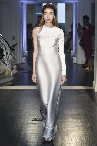 lakum-fall-2018-italian-neoprene-asymmetrical-long-sleeve-cutout-gown