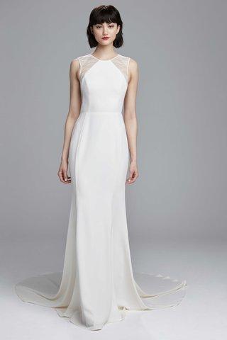 nouvelle-amsale-spring-2017-bonnie-sleeveless-wedding-dress-slim-crepe-gown-cutaway-shoulder-detail