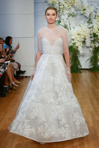 monique-lhuillier-spring-2018-bridal-collection-wedding-dress-beatrice-a-line-gown-sweetheart-cape