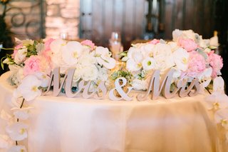 gold-laser-cut-mrs-and-mrs-sign-for-same-sex-wedding-sweetheart-table