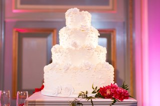 wedding-vow-renewal-cake-white-with-lace-design-and-special-inscription-roses