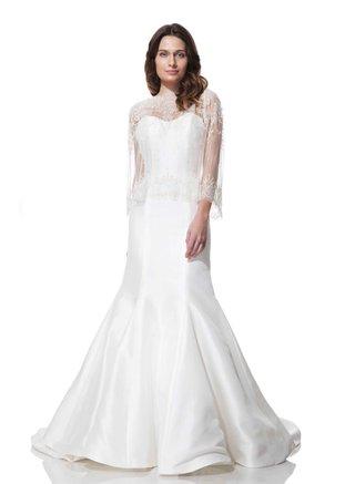 olia-zavozina-fall-winter-2016-strapless-wedding-dress-with-lace-overlay