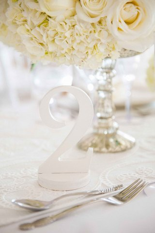 number-two-wedding-reception-table-number-white-hydrangeas-roses