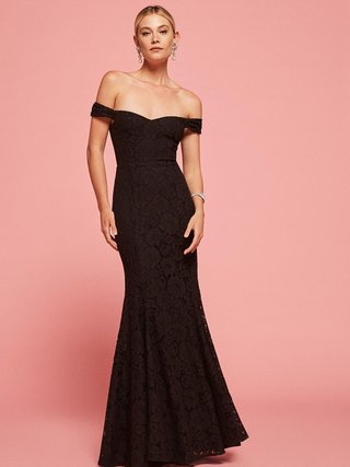 black-wedding-dress-or-bridesmaid-dress-by-reformation-freesia-in-black-off-the-shoulder-lace