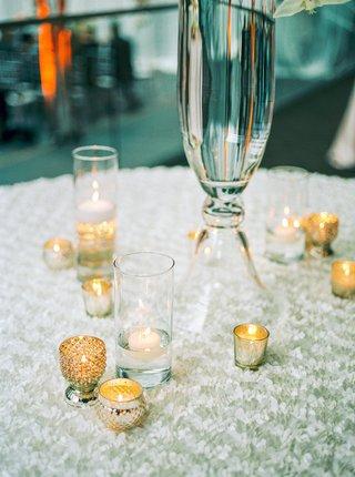 miniature-mini-votive-tea-light-candles-pleated-white-table-linen-glass