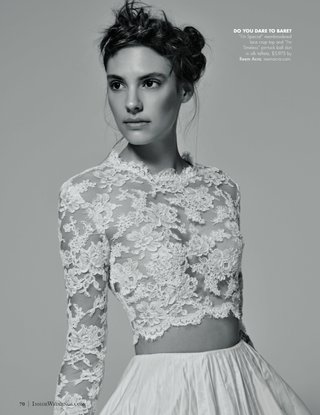 black-and-white-photo-of-crop-top-reem-acra-wedding-dress