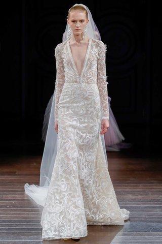 naeem-khan-bridal-spring-2017-dominica-long-sleeve-wedding-dress-plunging-v-neck-hand-embroidery