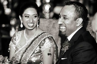 black-and-white-photo-of-indian-bride-and-groom