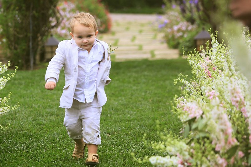 Ring Bearer Marches Down the Aisle