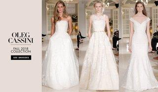 Romantic Bridal Bridesmaid Gowns From Oleg Cassini Fall 2018