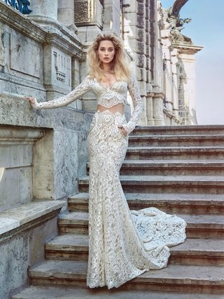 galia-lahav-fall-2016-two-piece-lace-long-sleeve-wedding-dress