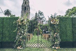 secret-garden-entrance-to-wedding-ceremony