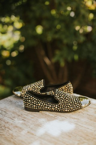 mens-slip-on-shoes-designer-wedding-shoe-ideas-black-with-gold-toe-and-gold-studs-embellishments