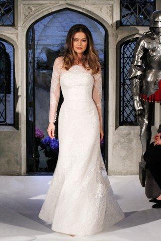 oleg-cassini-spring-2018-wedding-dress-long-sleeve-illusion-boat-neck-sheath-applique