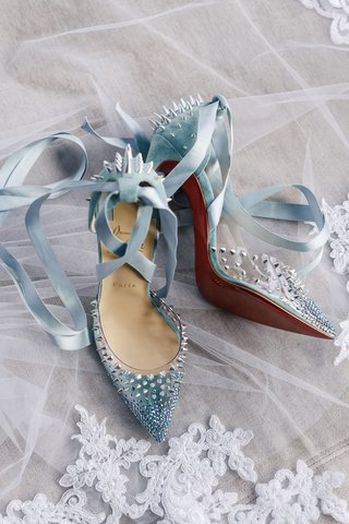 baby-blue-high-heels-christian-louboutin-red-bottom-silver-spike-velvet-ribbon-ankle-straps