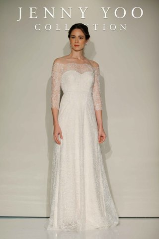 jenny-yoo-bridal-2016-embroidered-tulle-three-quarter-sleeve-wedding-dress