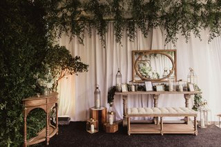 reception-lounge-area-with-photos-and-lanterns