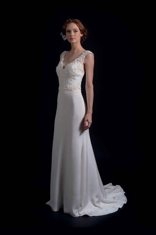 modern-trousseau-fall-2016-sheath-wedding-dress-with-embroidered-bodice-and-straps