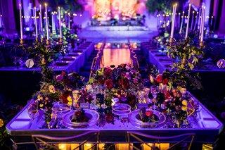seattle-mariners-marc-rzepczynskis-wedding-vibiana-wedding-purple-lighting-dark-wedding-colors