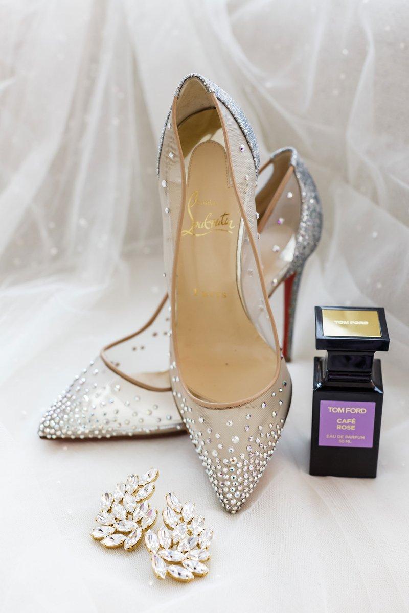 Sheer Shoes, Earrings & Perfume