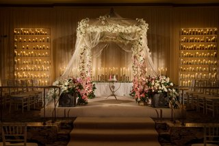 jewish-floral-embellished-chuppah-and-candles
