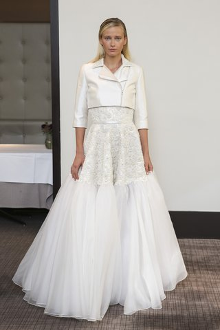 gracy-accad-fall-2018-beaded-lace-and-net-ball-gown-with-silk-and-wool-moto-jacket