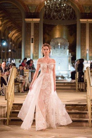 idan-cohen-fall-winter-2018-empire-of-love-wedding-dress-off-shoulder-bridal-gown-sheer-overskirt