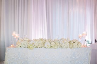 floral-table-runner-stemmed-candle-holders-all-white-decor-white-drapery-at-wedding