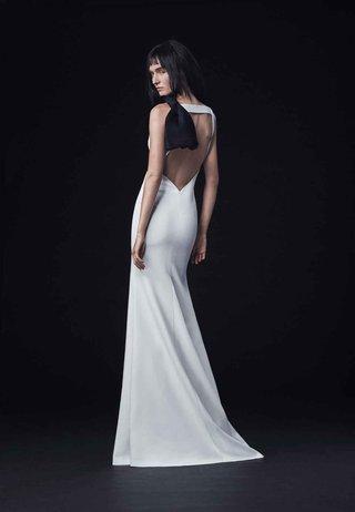 vera-wang-bride-fall-2016-v-open-back-crepe-wedding-dress-with-black-shoulder-bow