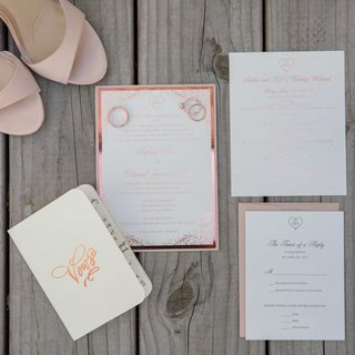 invititation-suite-and-vow-book-with-rose-gold-foil