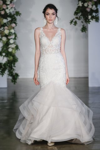 morilee-fall-2018-sculptured-lace-appliques-on-flounced-tulle-mermaid-dress