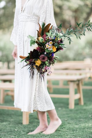 coloful-cascading-boho-bouquet-southern-california-winter-styled-shoot-ranch-unique-wedding