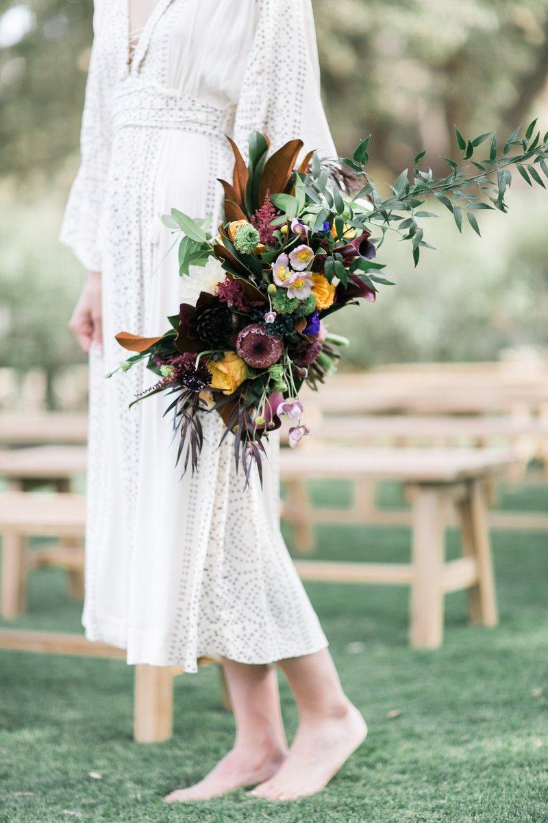 Colorful, Cascading Boho Bouquet
