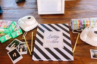 guest-book-photo-guest-book-instax-photo-camera-with-black-and-white-stripe-book-polaroids
