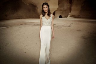 limor-rosen-ariel-wedding-dress-lace-scallop-top-with-satin-fitted-skirt-tribal-collection