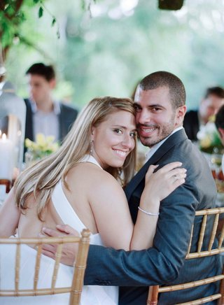 bride-and-groom-at-garden-rehearsal-dinner-in-ojai
