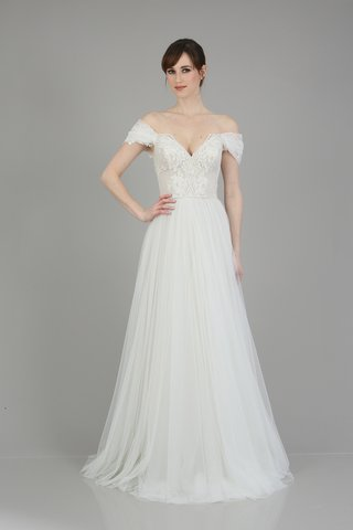 an-off-the-shoulder-dress-with-a-v-neckline-intricate-detailing-on-the-bodice-and-a-tulle-skirt-by
