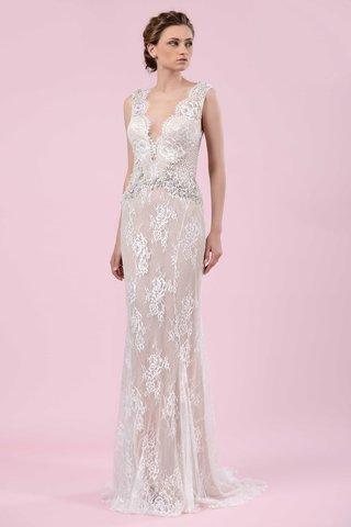 gemy-maalouf-2016-plunging-neckline-lace-sheer-wedding-dress