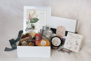 white-welcome-box-filled-with-treats-and-personalized-notes-and-snacks