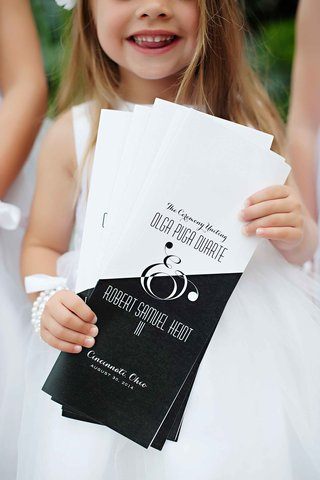 wedding-ceremony-program-in-black-and-white-with-ampersand