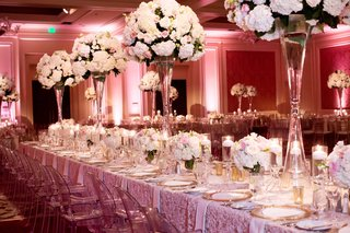 long-tablescape-blush-palette-tall-centerpieces-feminine-motif-gold-ghost-chairs-fancy-linens-dallas